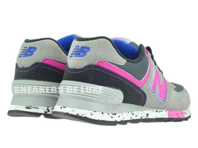 new balance wl 574 grey pink