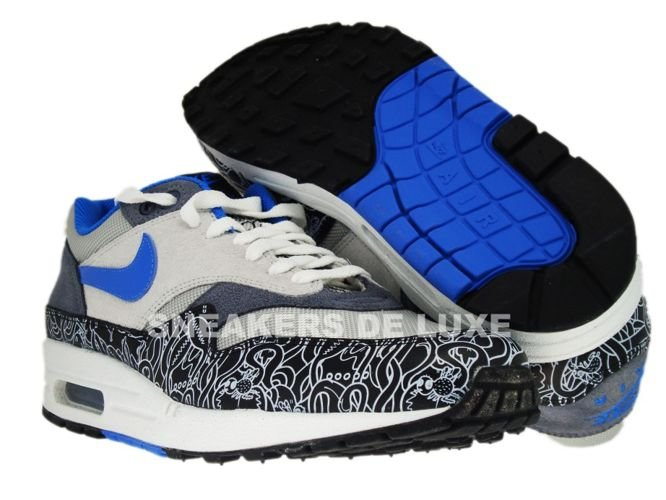 English: Nike Air Max 1 Neutral Grey/New Blue-Black 307133-041 ...